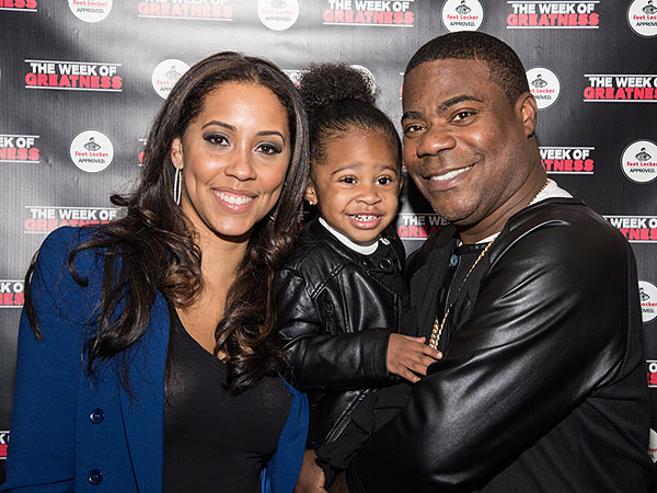 Tracy Morgan and Megan Wollover with their daughter Maven