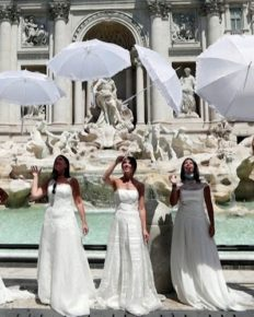 Brides-to-be stage a protest in Rome, Italy against the restrictions on wedding function during coronavirus pandemic!