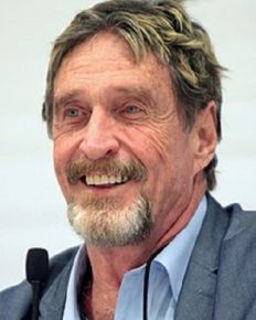 John McAfee: Tech millionaire with a rather interesting but insane life!