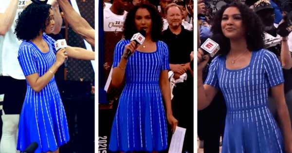 Malika Andrews is the youngest sport journalist to report NBA final trophy
